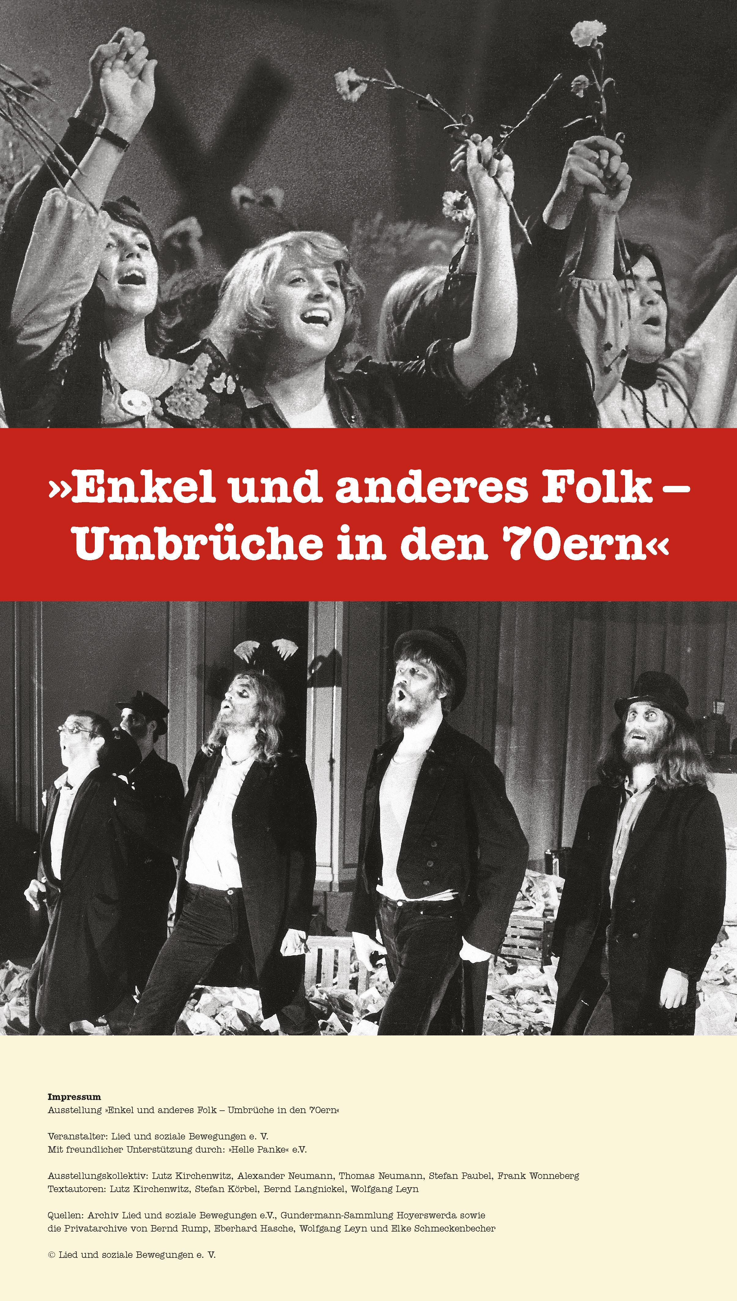 Poster for the exhibition Enkel und anderes Folk - Umbrüche in den 70ern