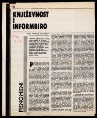 Matvejević, Predrag. Književnost i Informbiro [Literatureand Cominform], Start, 1982.