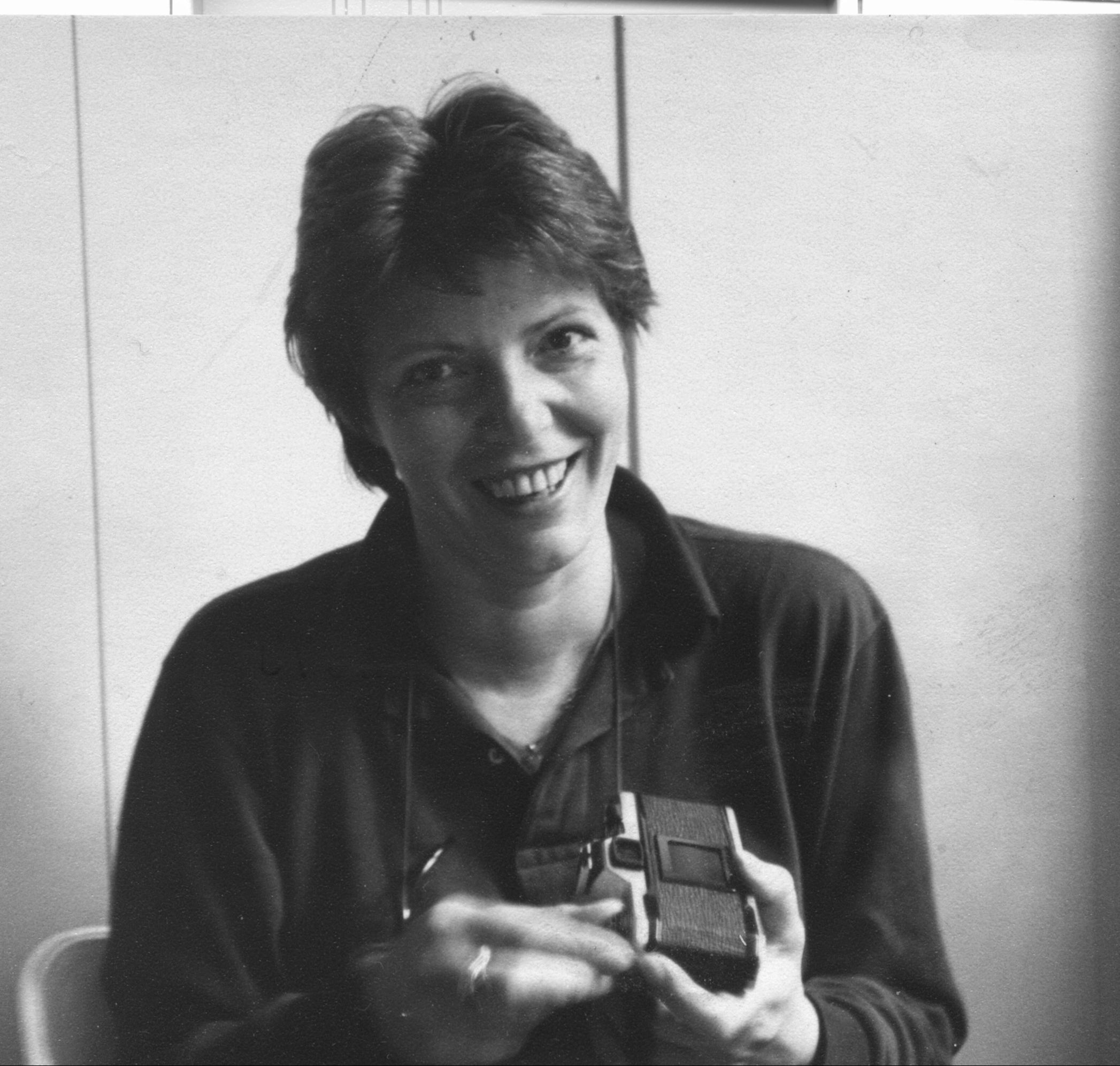 Maria Helle, the technical editor of the journal Moving World, 1980
