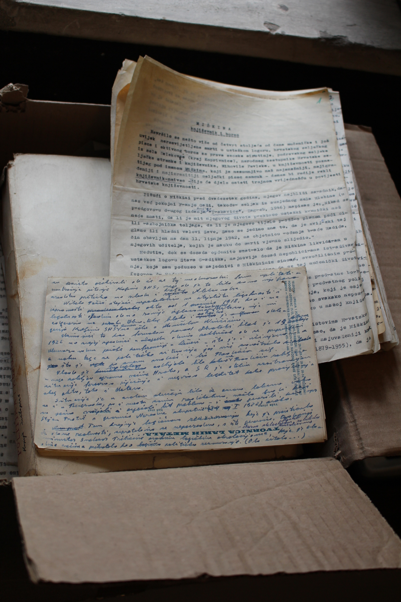Kulundžić's manuscripts in the box (15_3_2017)