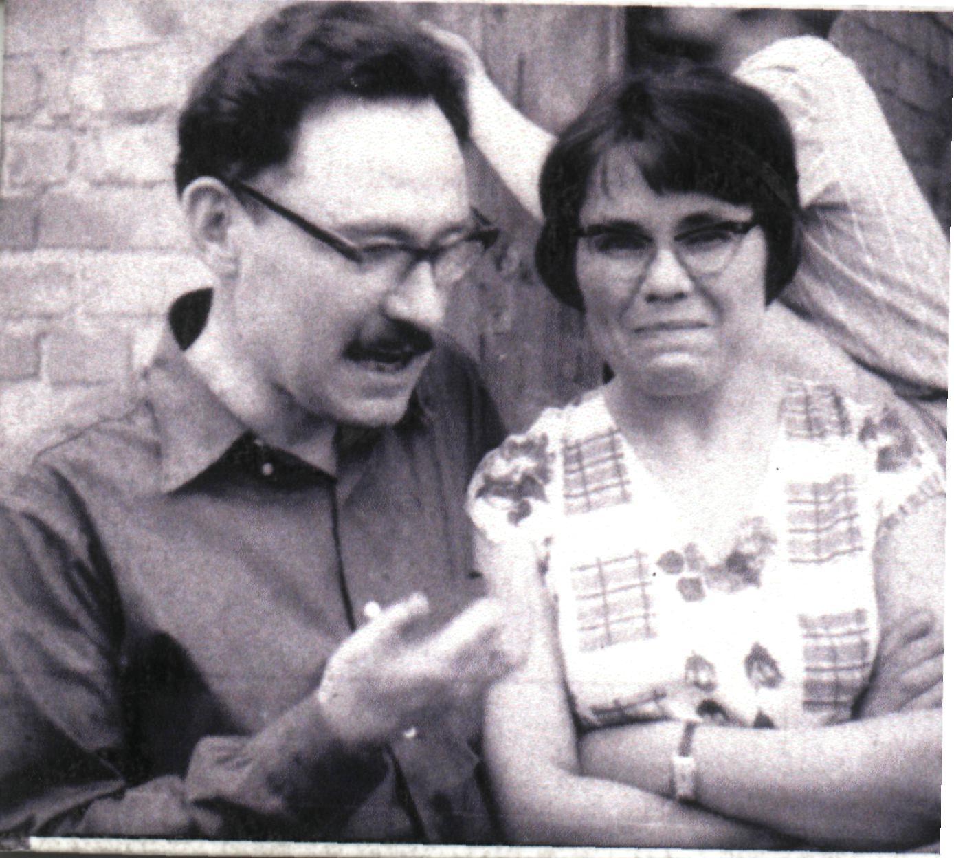 Ivan Svitlychny with Halyna Sevruk, 1960s