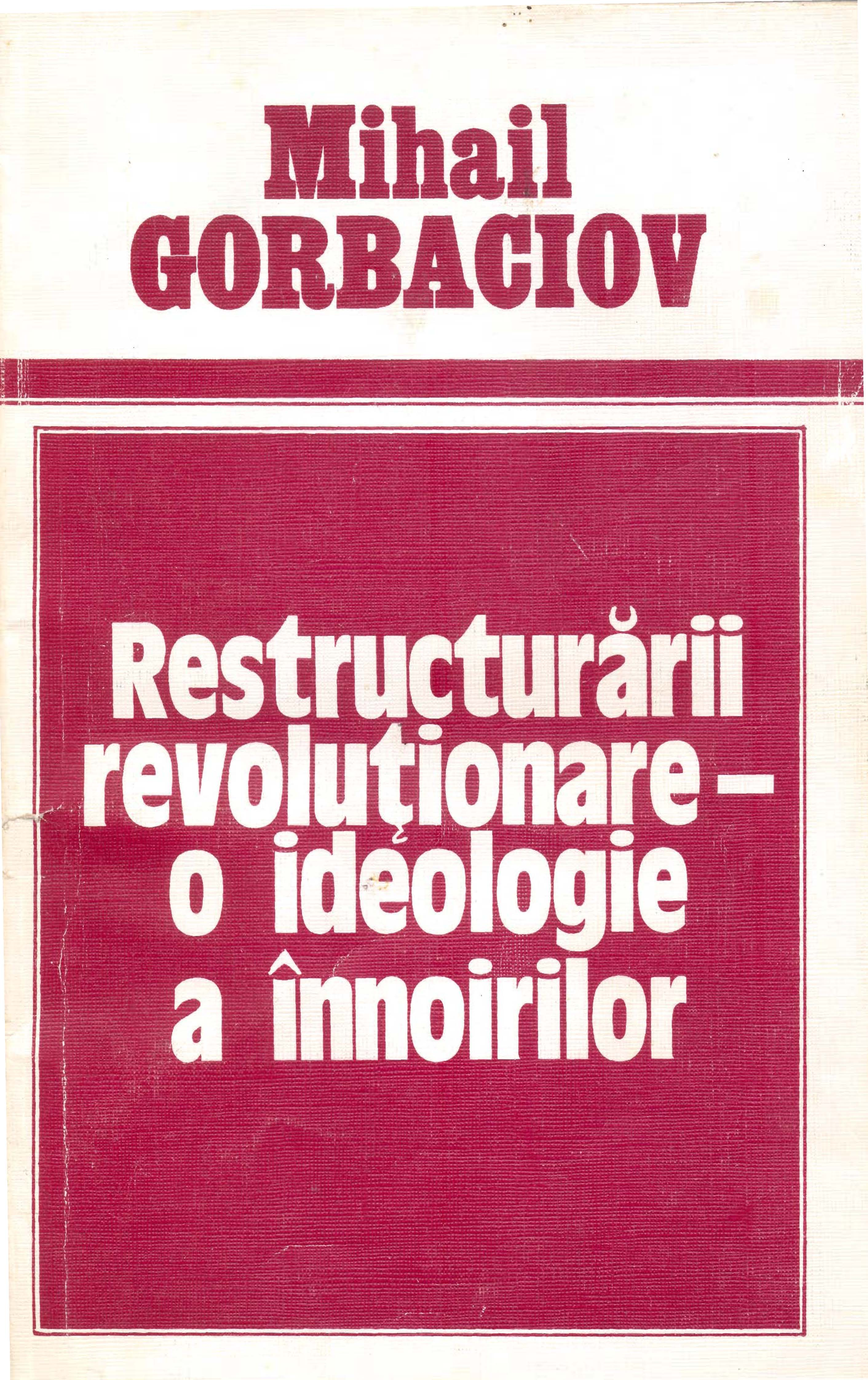 Front cover of Gorbachev's booklet on perestroika in Romanian