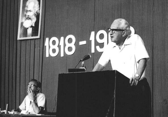 Herbert Marcuse speaking at the Korčula Summer School in 1968.