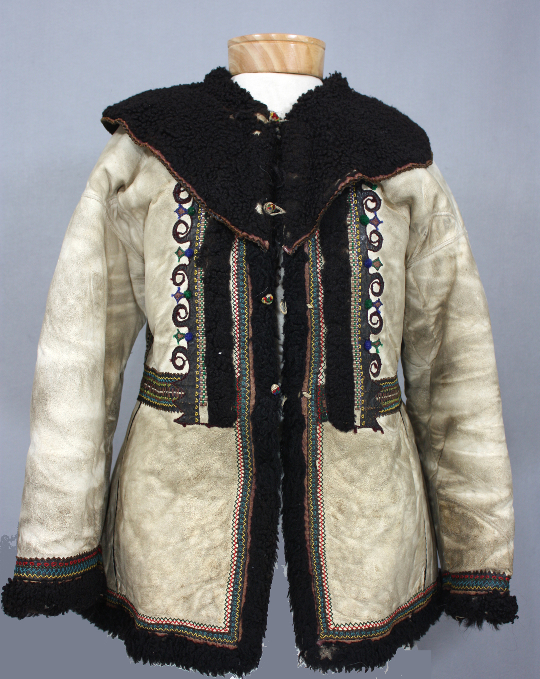 Kozhukh, Sheepskin outerwear from the Hnatiuk collection, 19th-early 20th Century. Textile.