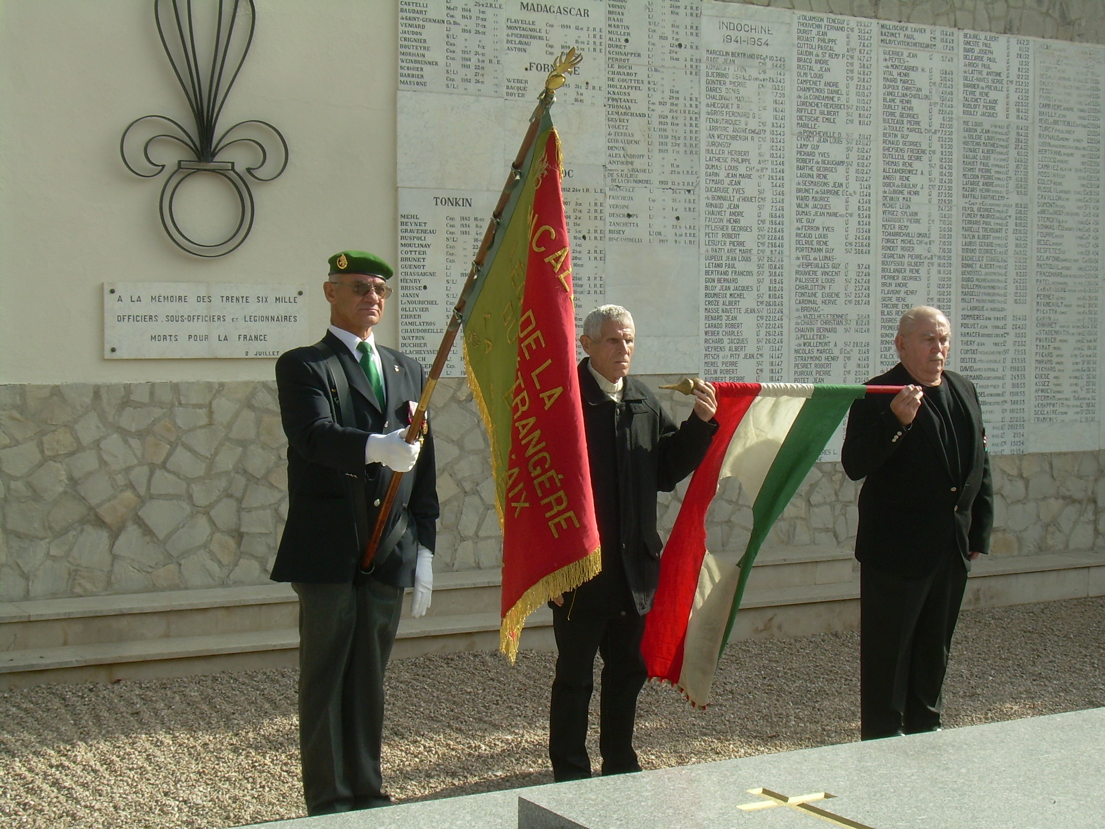 Hungarian veteran legionists' commemoration of the 1956 revolution, 23rd October 2011 Puyloubier, South of France
