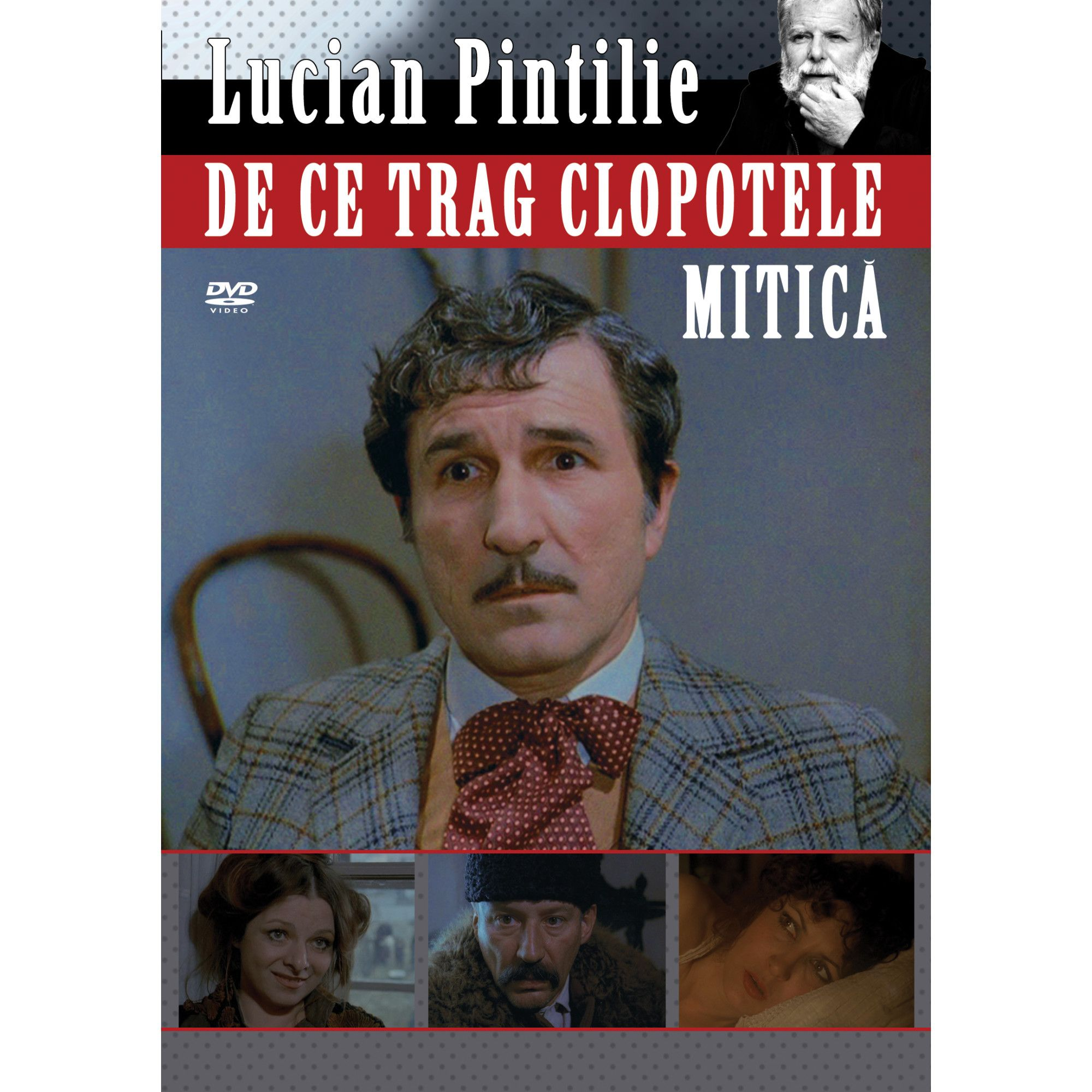Cover of the DVD of Lucian Pintilie's film De ce trag clopotele, Mitică? (Why are the bells ringing, Mitică?)