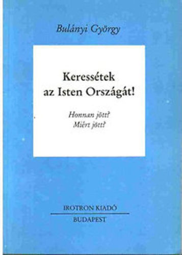 The cover of György Bulányi's book.