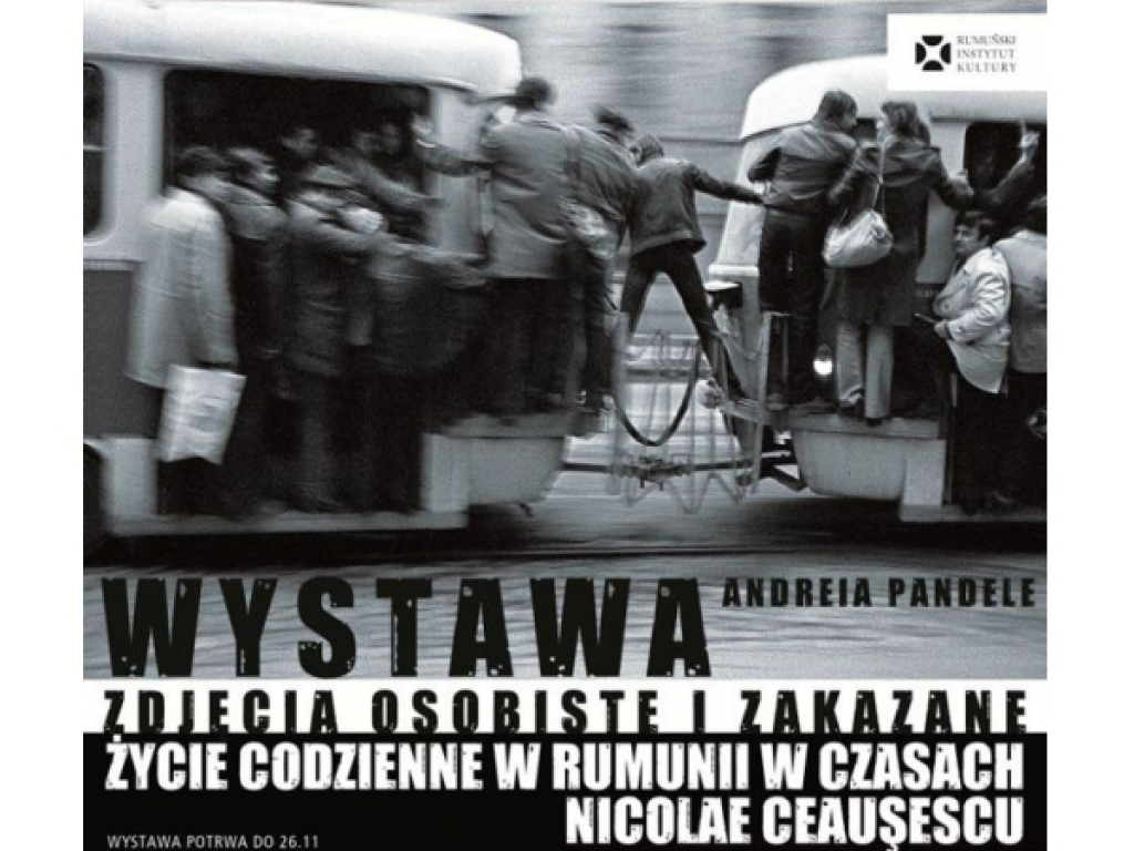 Poster of Andrei Pandele's photo exhibition in Warsaw, 2012
