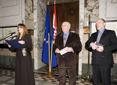 Opening of the exhibition on the occasion of the 40th Anniversary of the Declaration on the Name and Status of the Croatian Literary Language, 2007