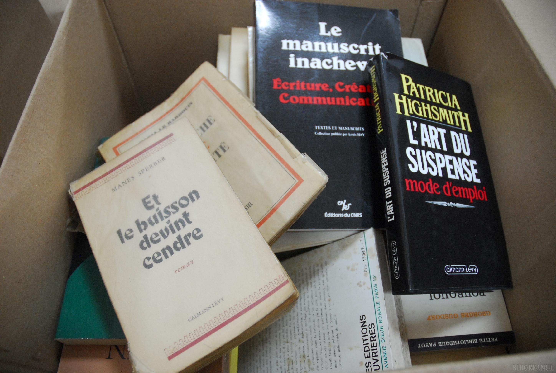 A box full of books from Monica Lovinescu-Virgil Ierunca Collection
