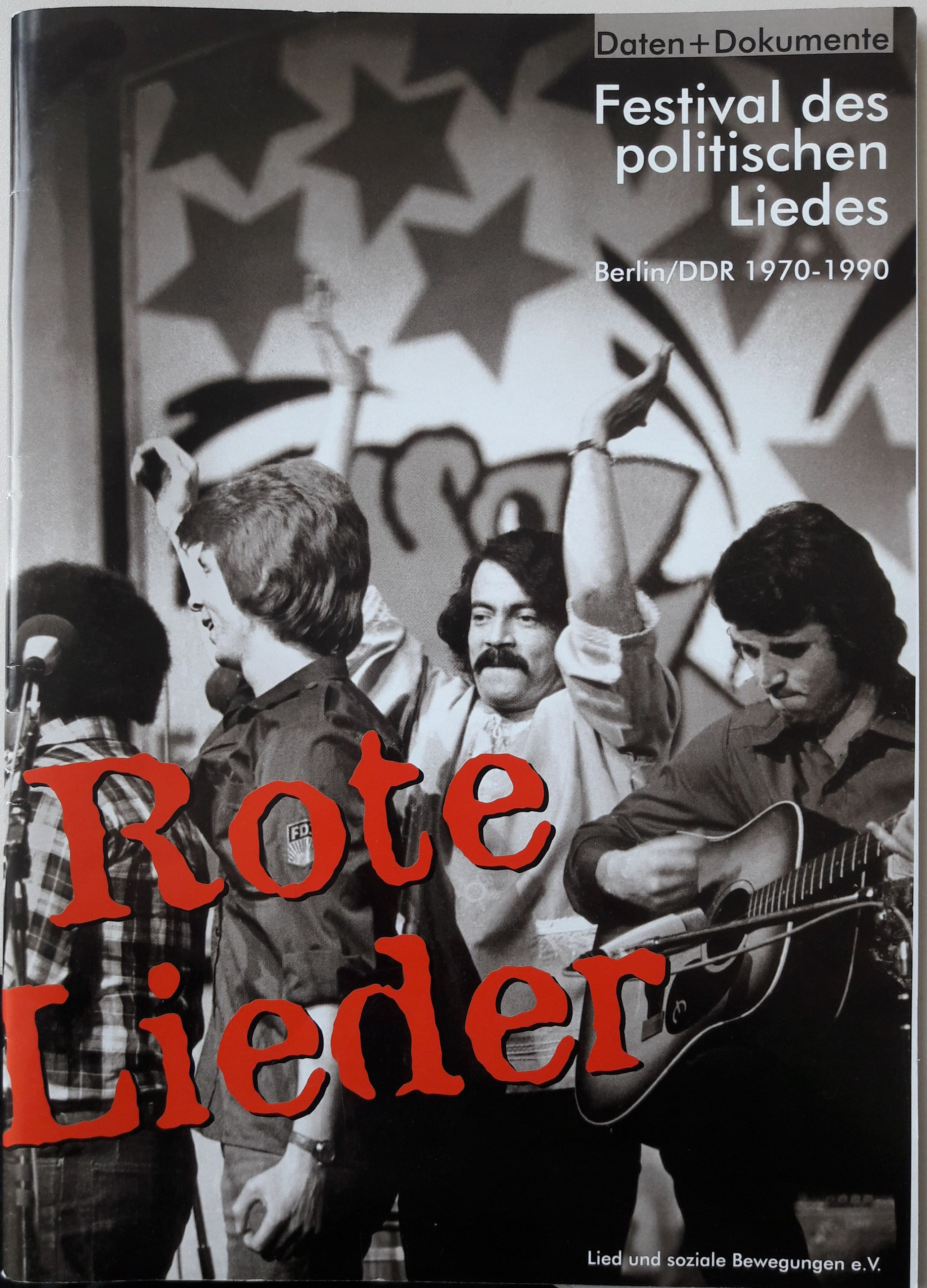 Cover 'Rote Lieder. Daten + Dokumente Festival des politischen Liedes, Berlin 1970-1990.'