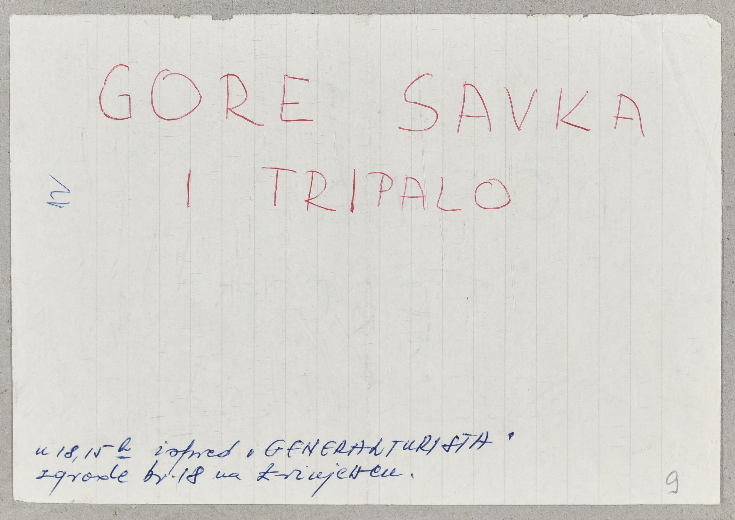 Handwritten flyer of support for the Croatian reformist and nationally-oriented political leaders. 1971. Archival document