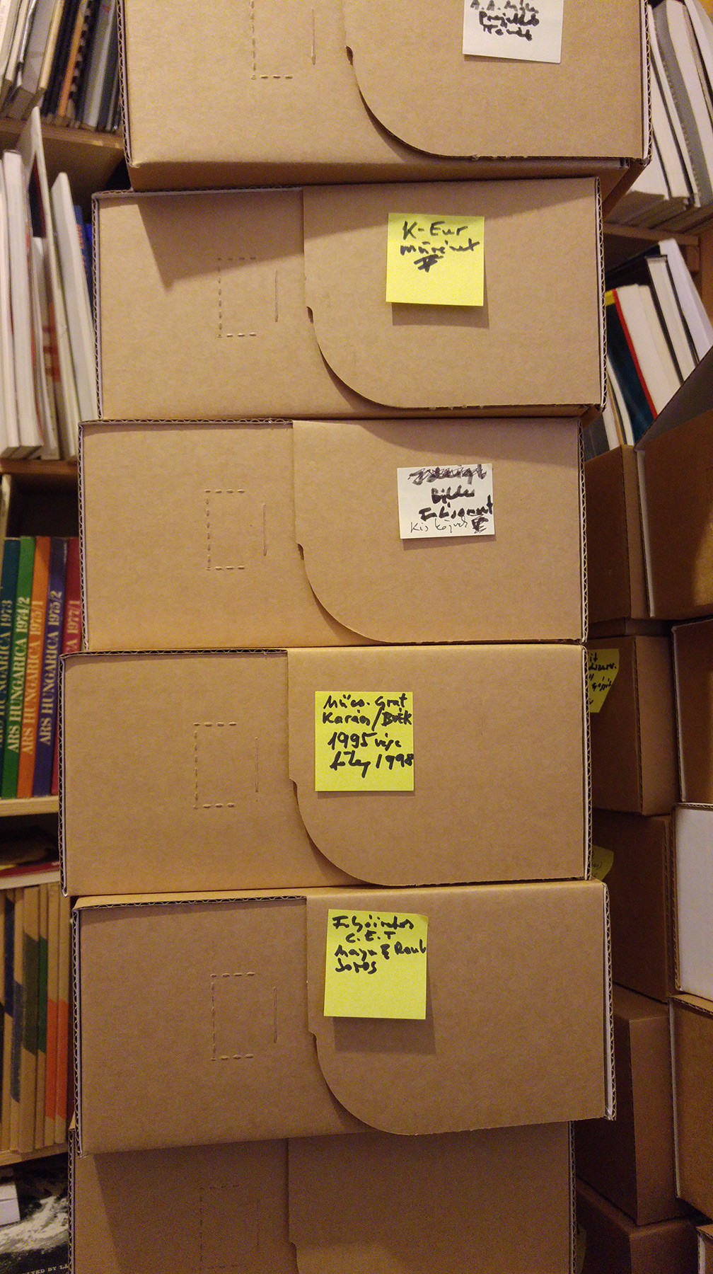 Part of the archive is ready to be transported.