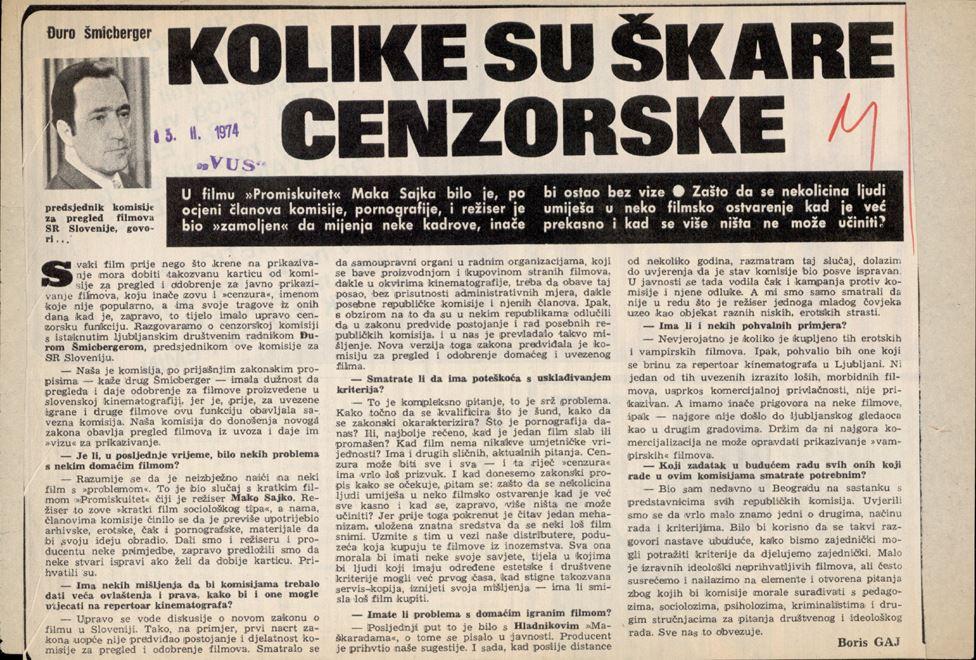 Ilustracija novinskog izreska.
