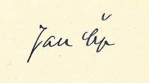 Signature of Jan Čep