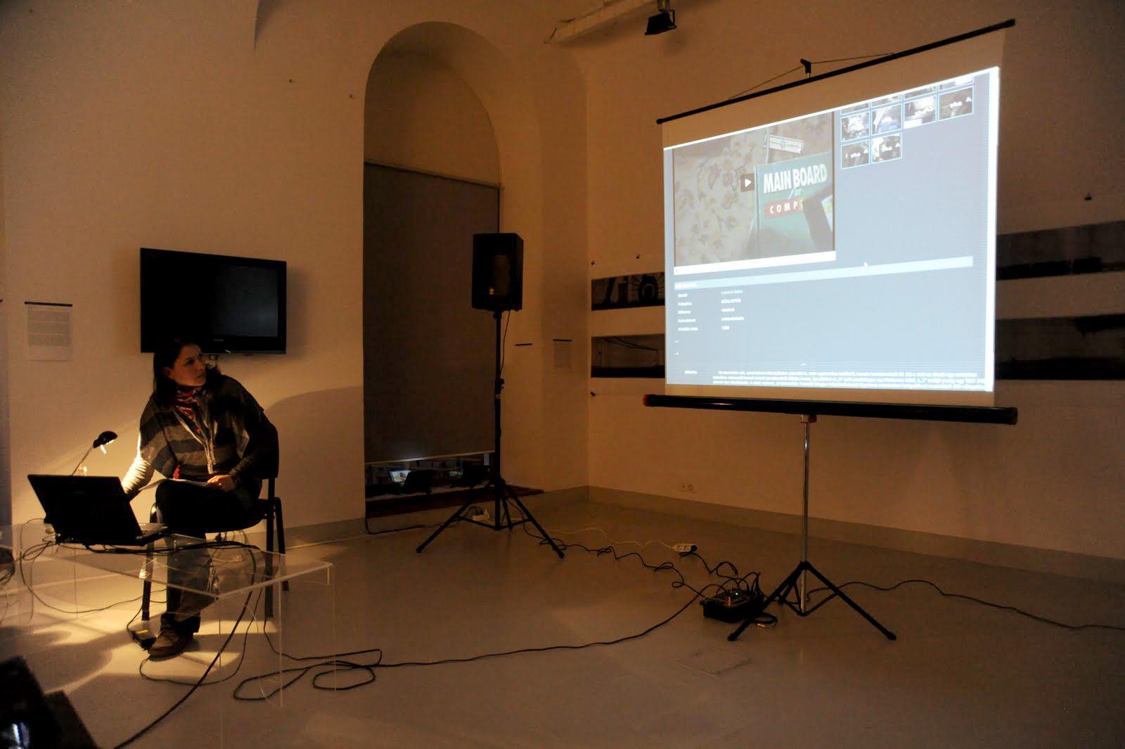 Presentation of Eva Kozma at MAGMA Contemporary Art Space, Saint George, Romania, 2012