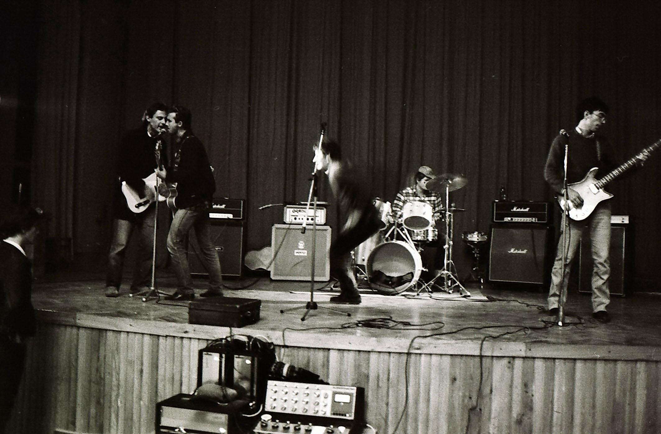 Nastup glazbene grupe Azra 1978. godine.