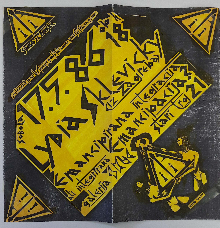 Liublianoje vykusios paskaitos plakatas, 1986 m.