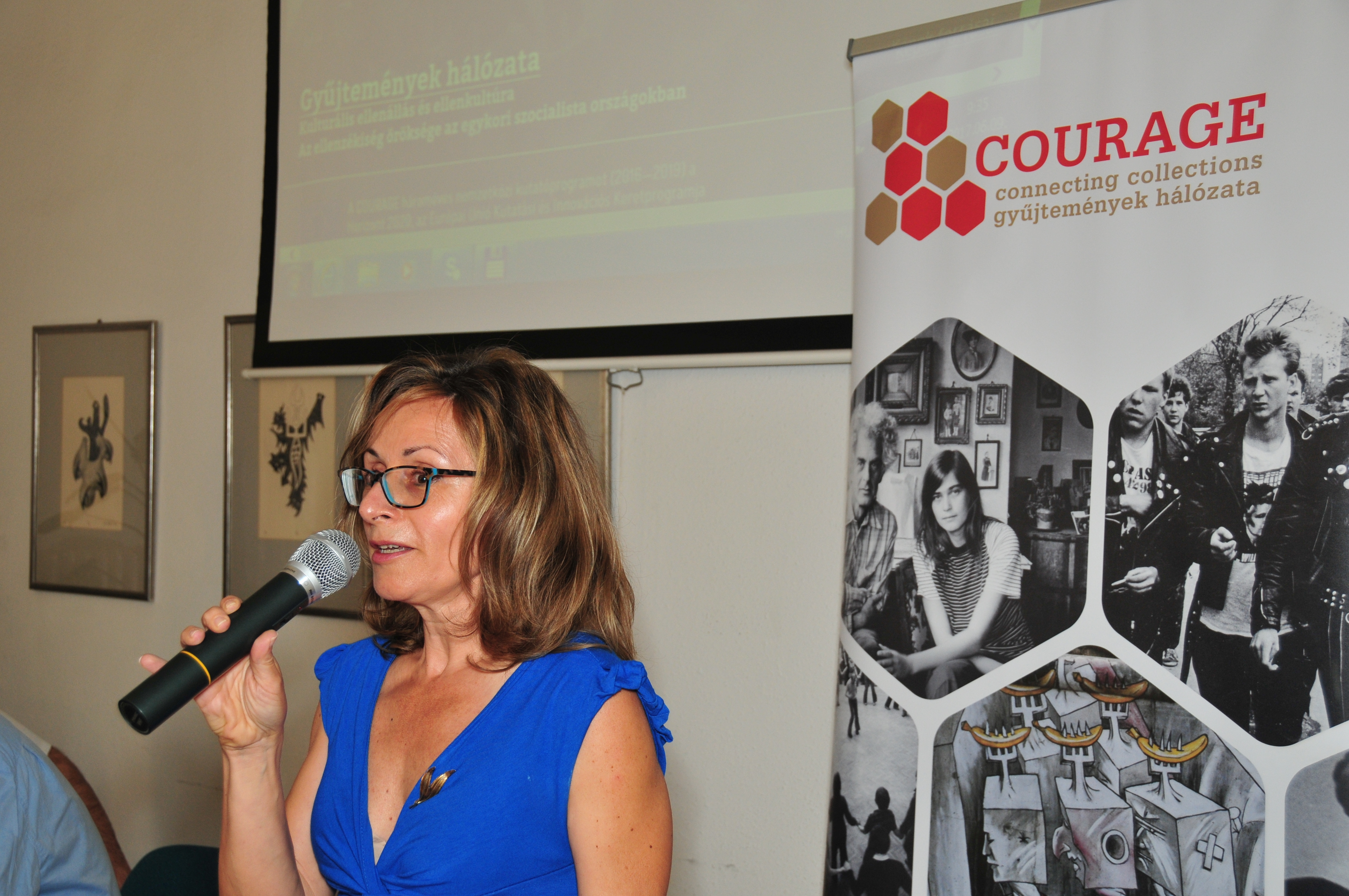 Katalin Somlai at the Oral History Conference of COURAGE in June 2017.