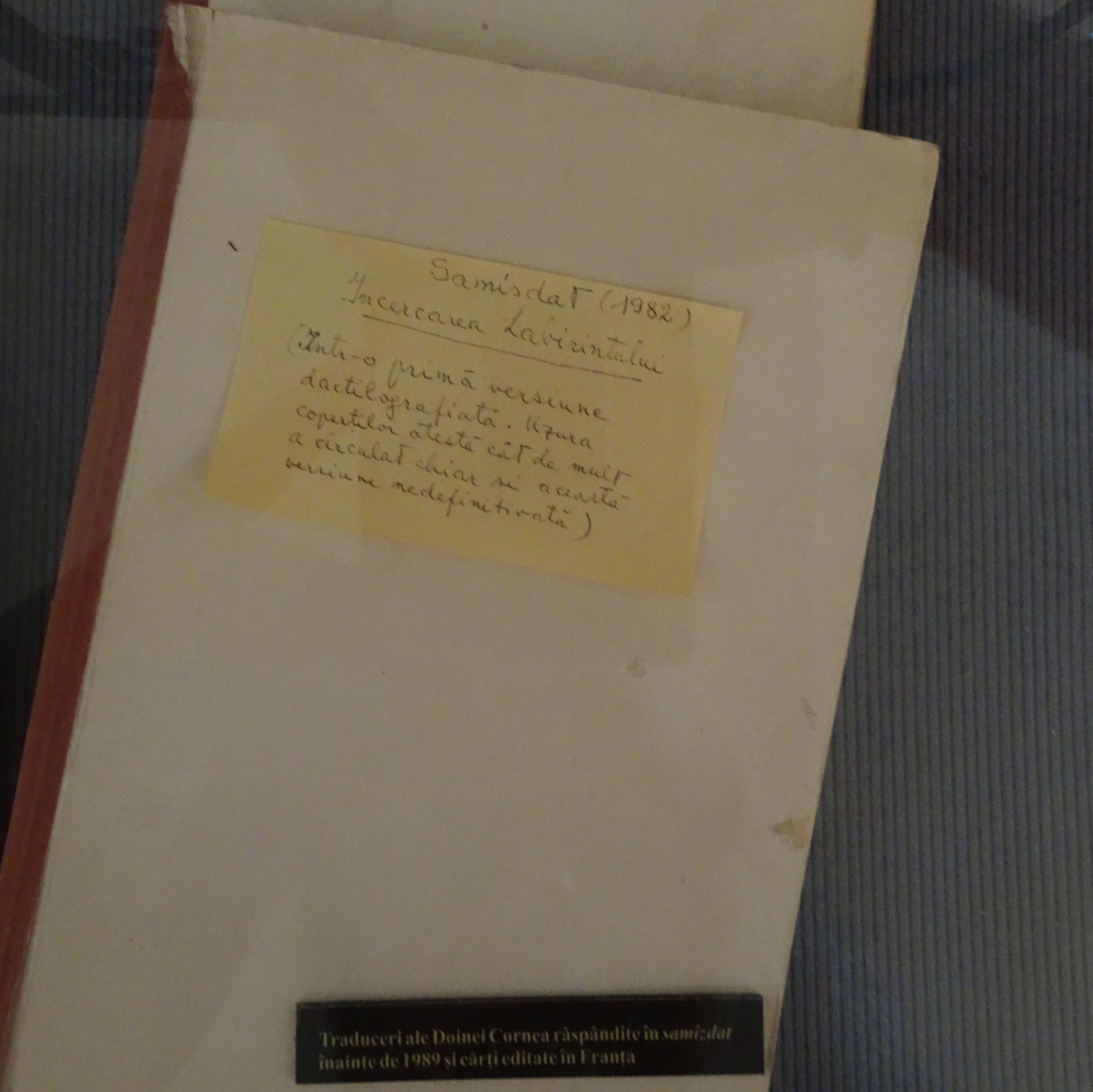 Eliade, Mircea. Încercarea labirintului, traducere de Doina Cornea. Ediție samizdat, 1982