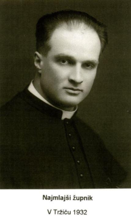 Anton Vovk as parish priest in Tržič in 1932.