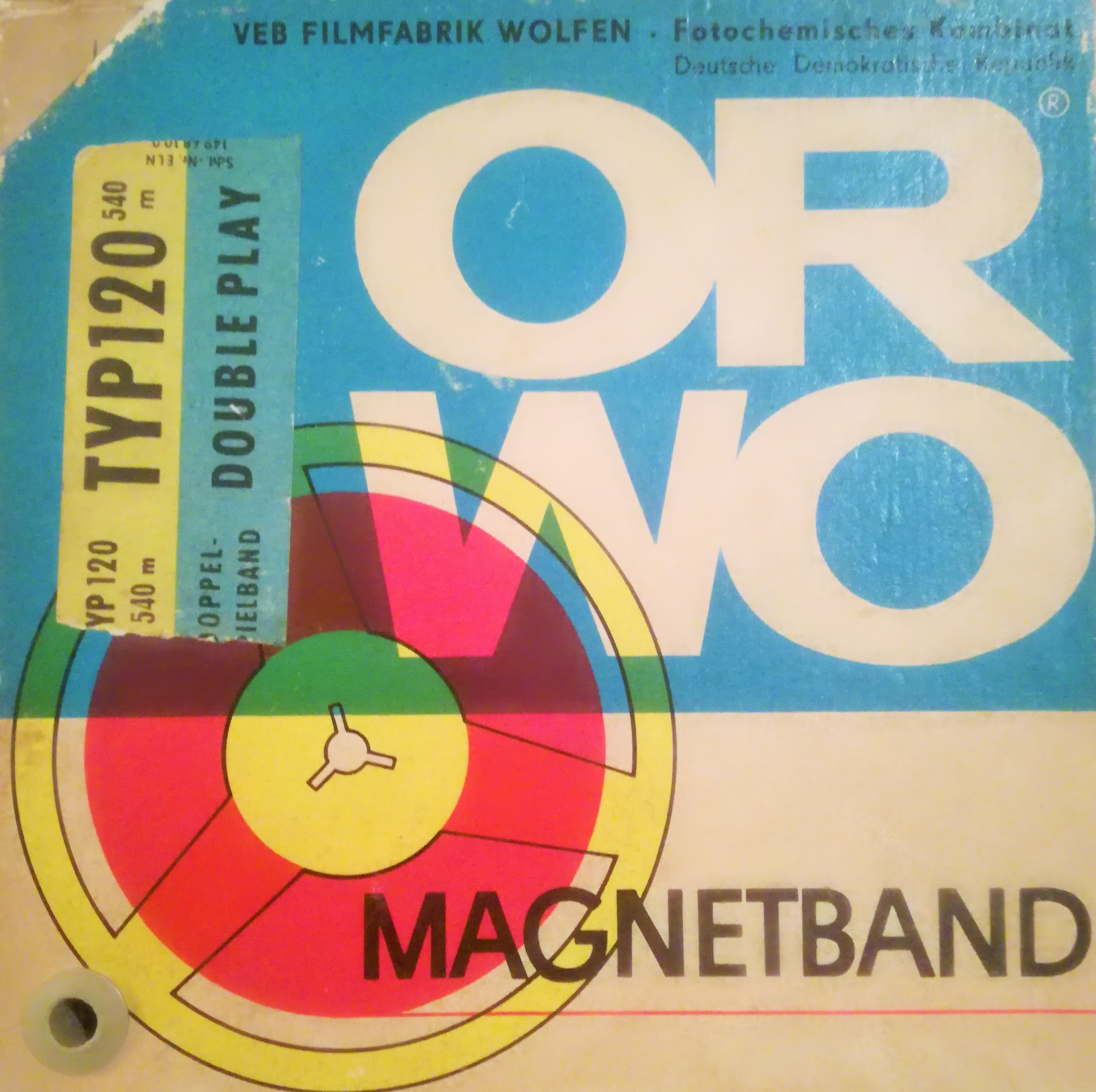 ORWO magnetic tape with Cat Radio recordings from the 1970s