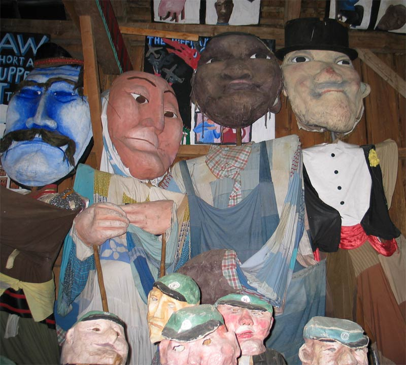 Bread and Puppet Theater' s puppets