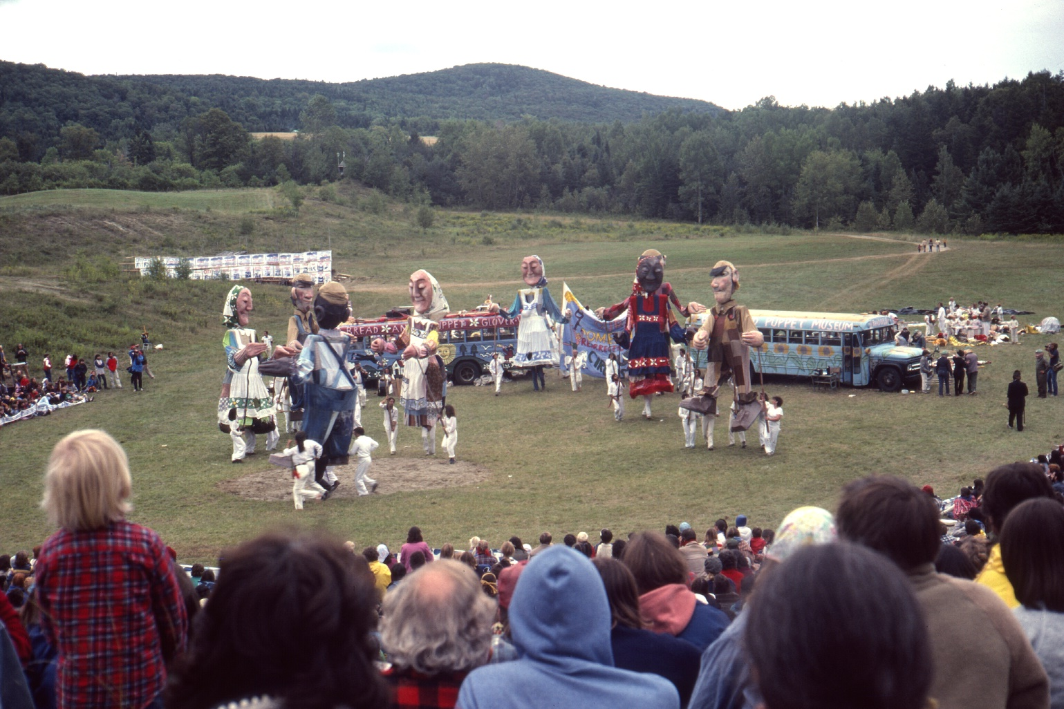 Performance of the Bread and Puppet Theater.