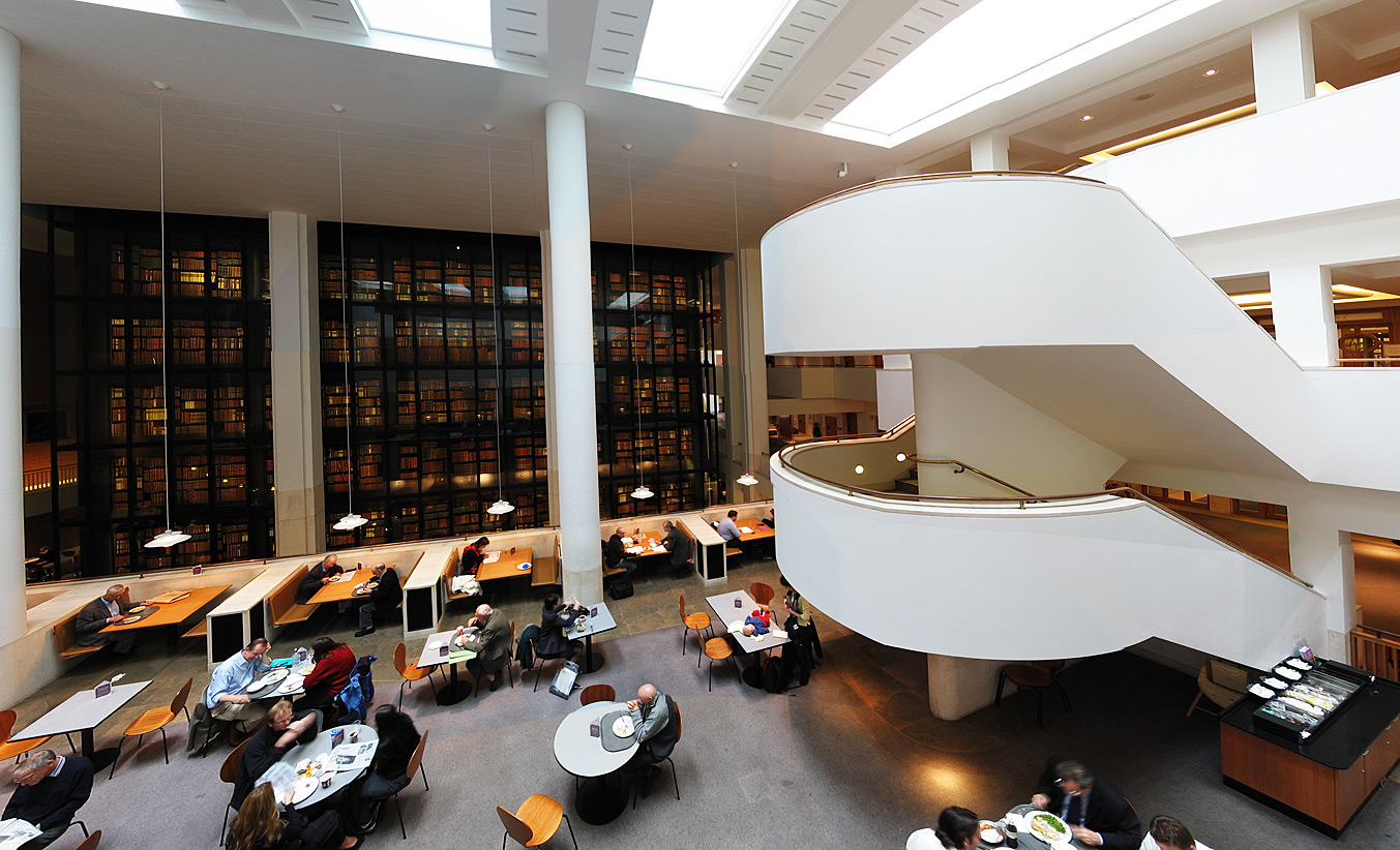 The Birtish Library's reading room.