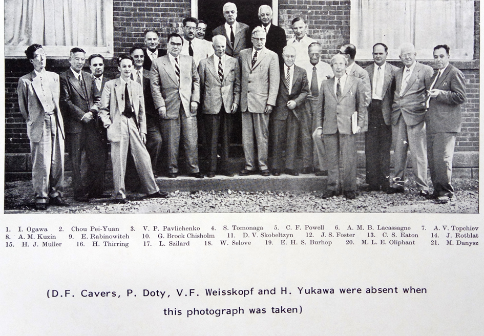 Participant of the First Pugwash Conference on Science and World Affairs in 1957/Sudionici prve Pagvaške konferencije održane 1957.