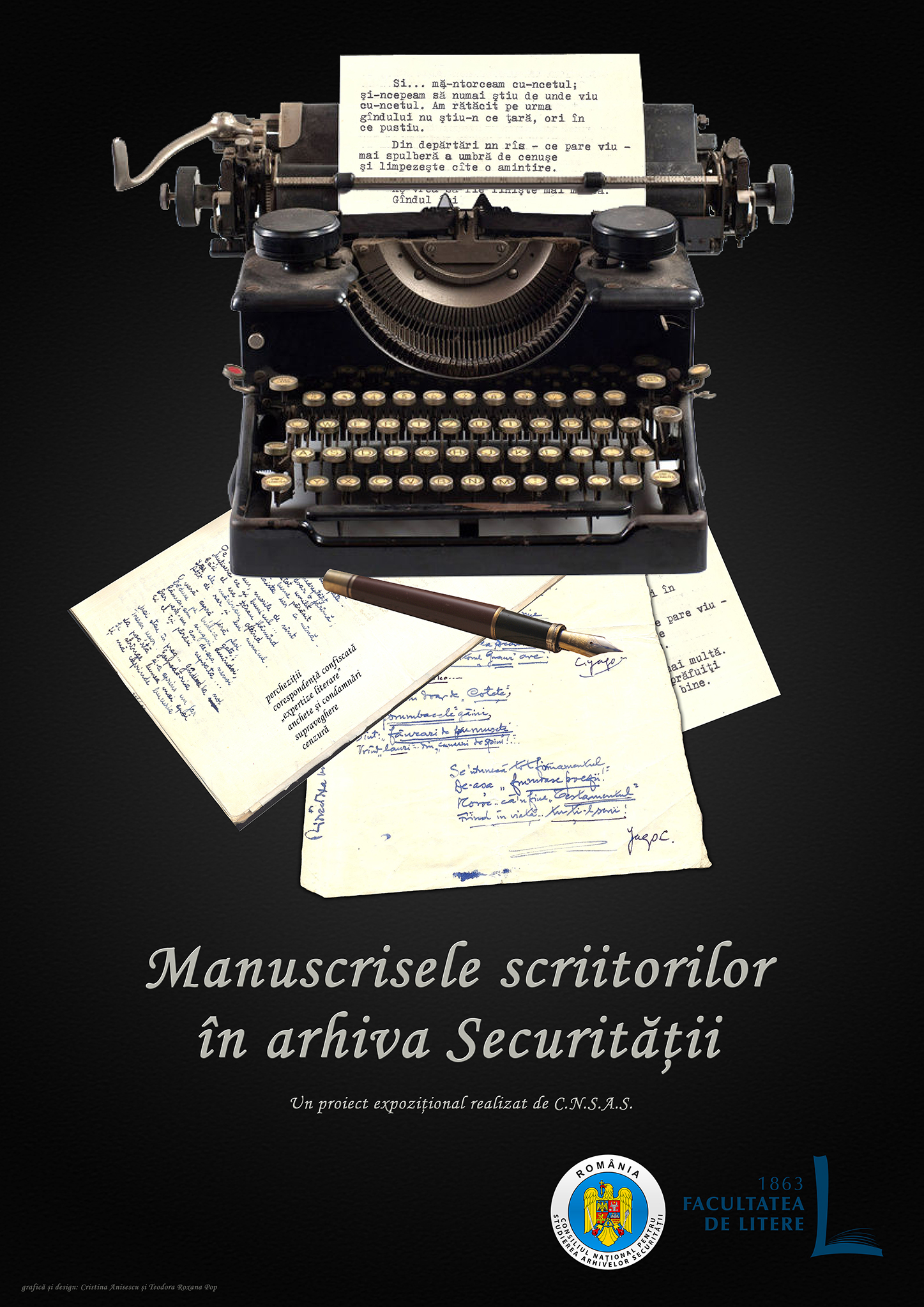 Poster of the exhibition 'Confiscated Manuscripts' at CNSAS