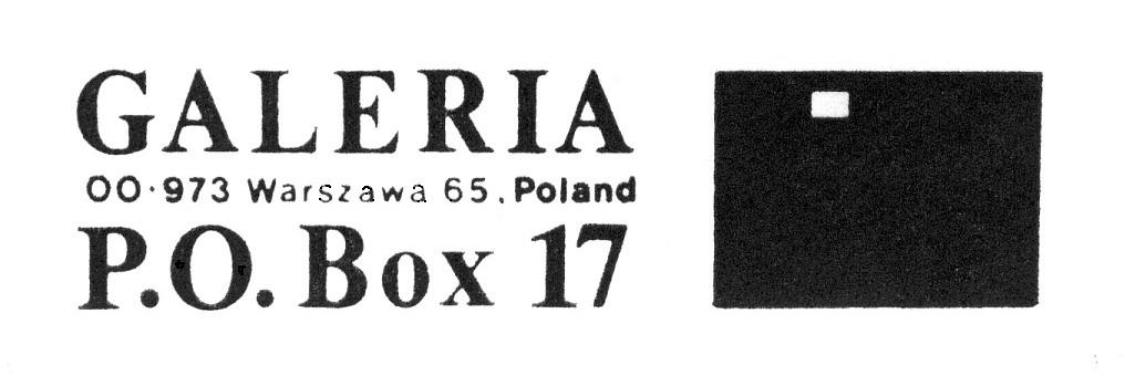 The logo of the P.O. Box 17 Gallery created by Tomasz Sikorski.