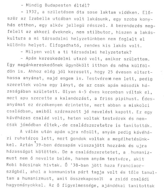 The second page of the interview 'Sorry Love, I Couldn't Prepare' created by Pál Diósi.