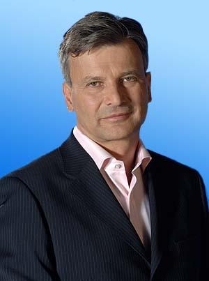 Gábor Demszky's portrait.