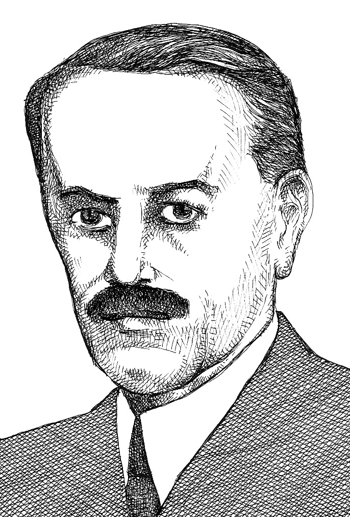 Elemér Jakabffy publicist and politician by graphic artist Sándor Muhi.
