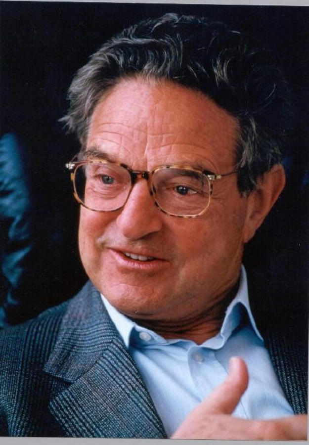 Portrait of George Soros from the early 1990s