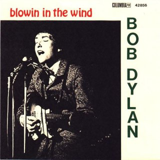 Album cover of Blowing in the wind by Bob Dylan