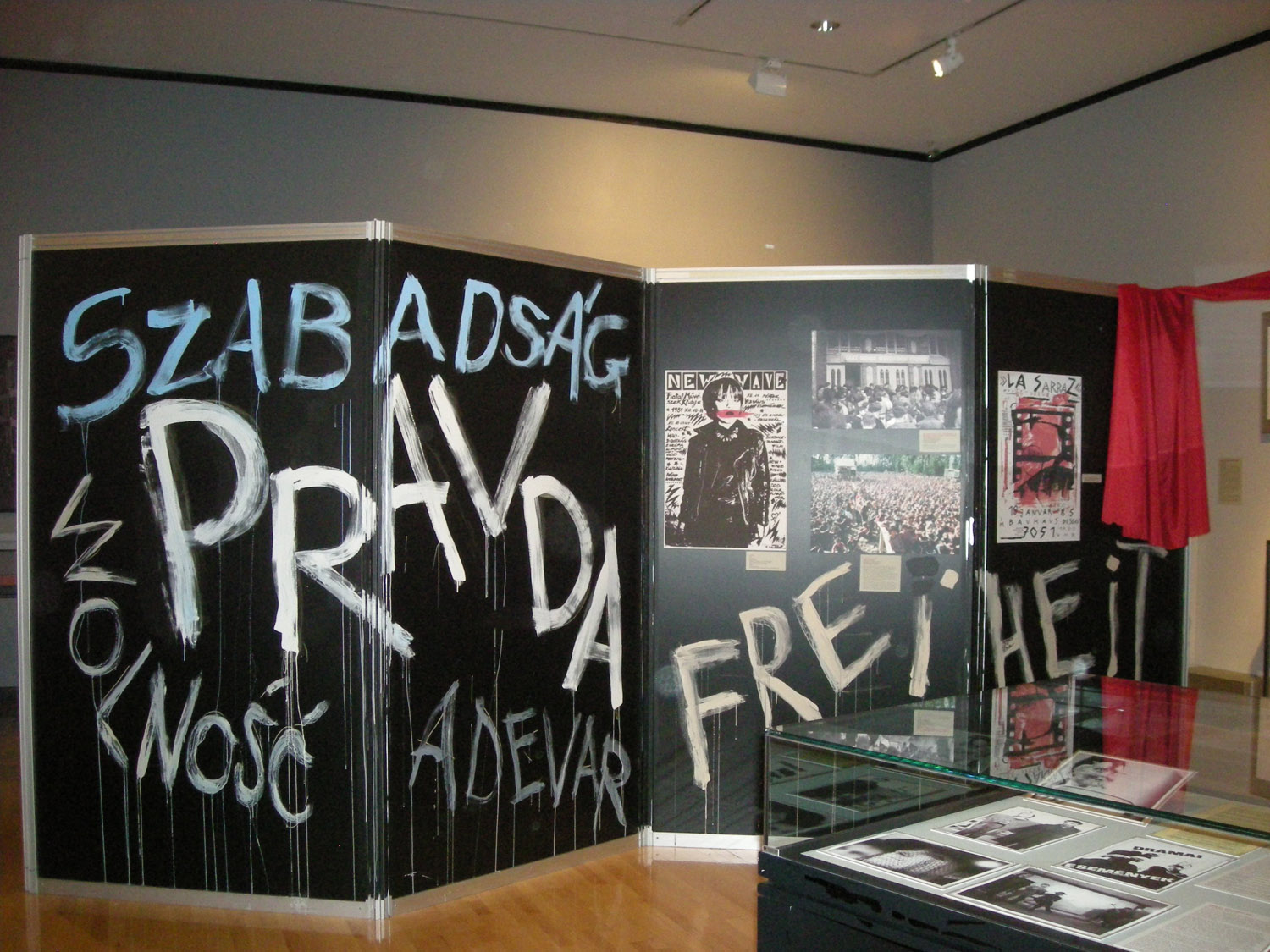 Exhibition view of Revolutionary Voices: Performing Arts in Central & Eastern Europe in the 1980s, The New York Public Library for the Performing Arts, 2009