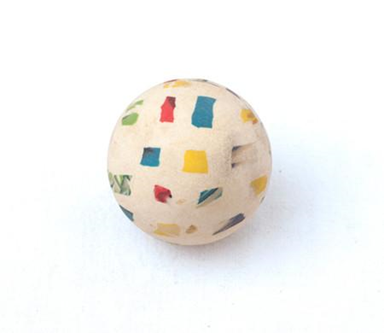 The jumping ball In 1970, coloured rubber. Ready-made series of Rain. Source: http://anti-muzej.com/no-art#obj-8