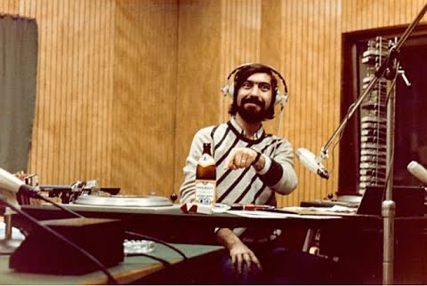 Cornel Chiriac during one of his broadcasts at Radio Free Europe
