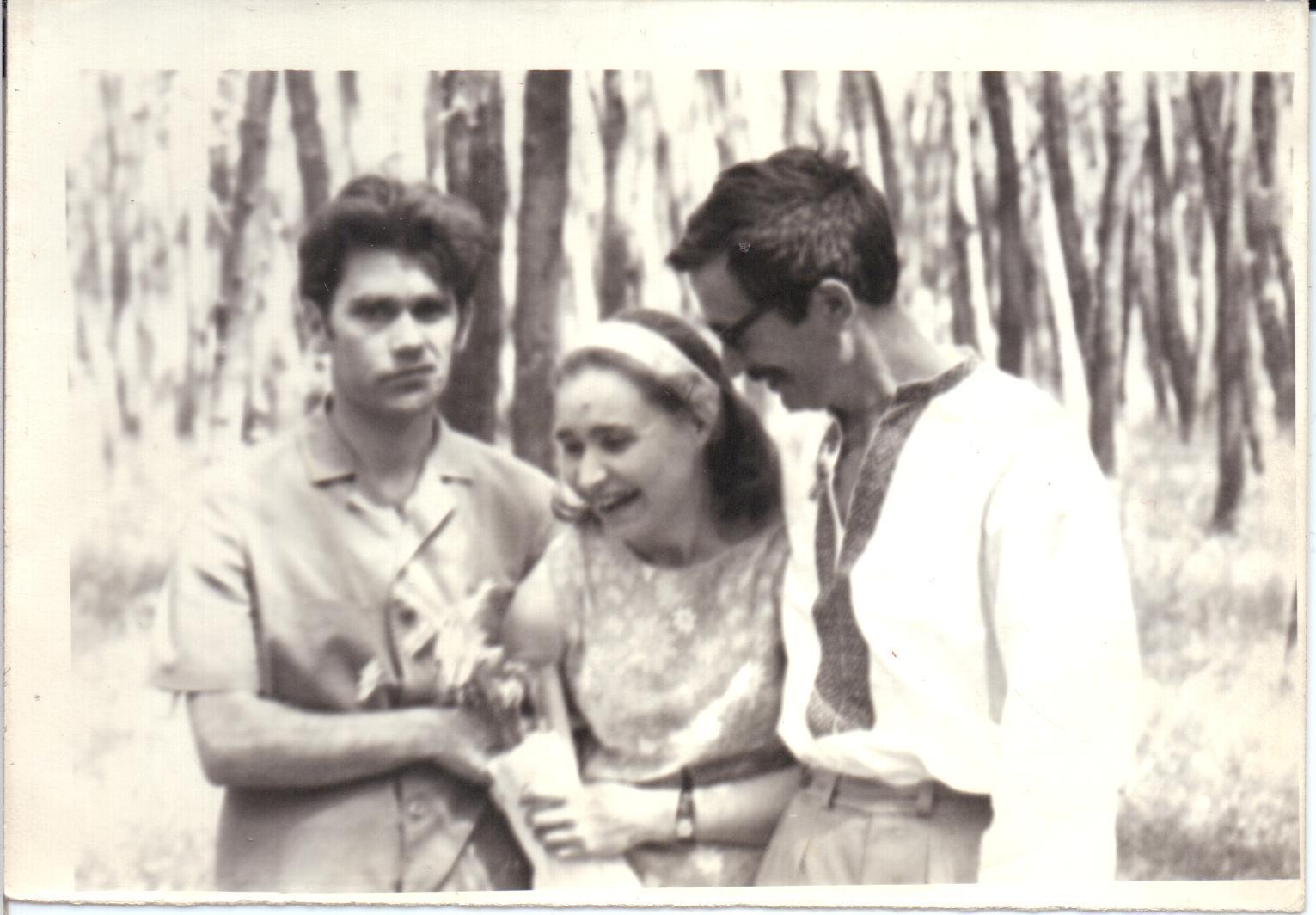 From left to right: Mykola Plakhotniuk, Nadia Svitlychna, Ivan Rusyn, 1960s
