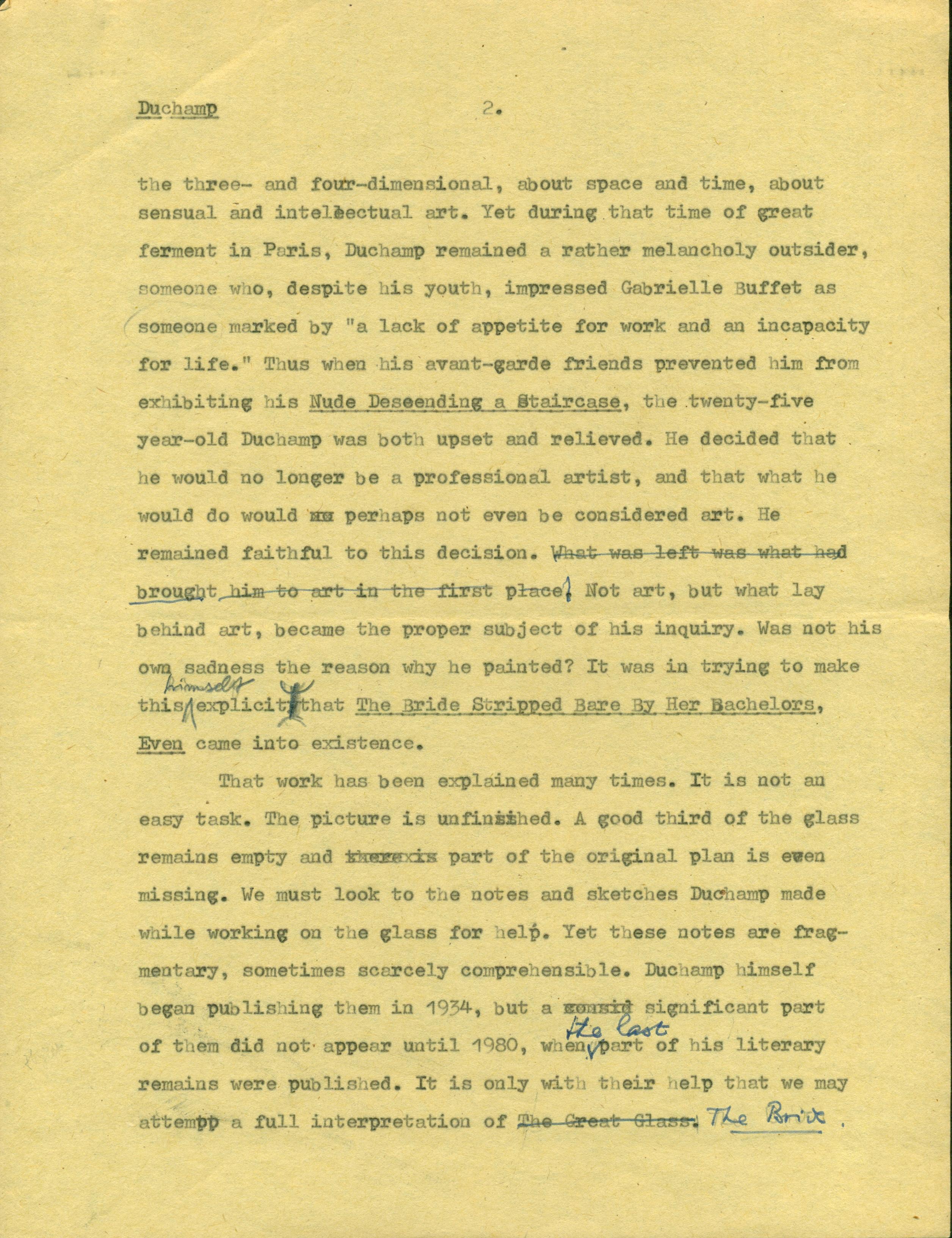 Jindřich Chalupecký: Marcel Duchamp: A Re-Evaluation, 1981