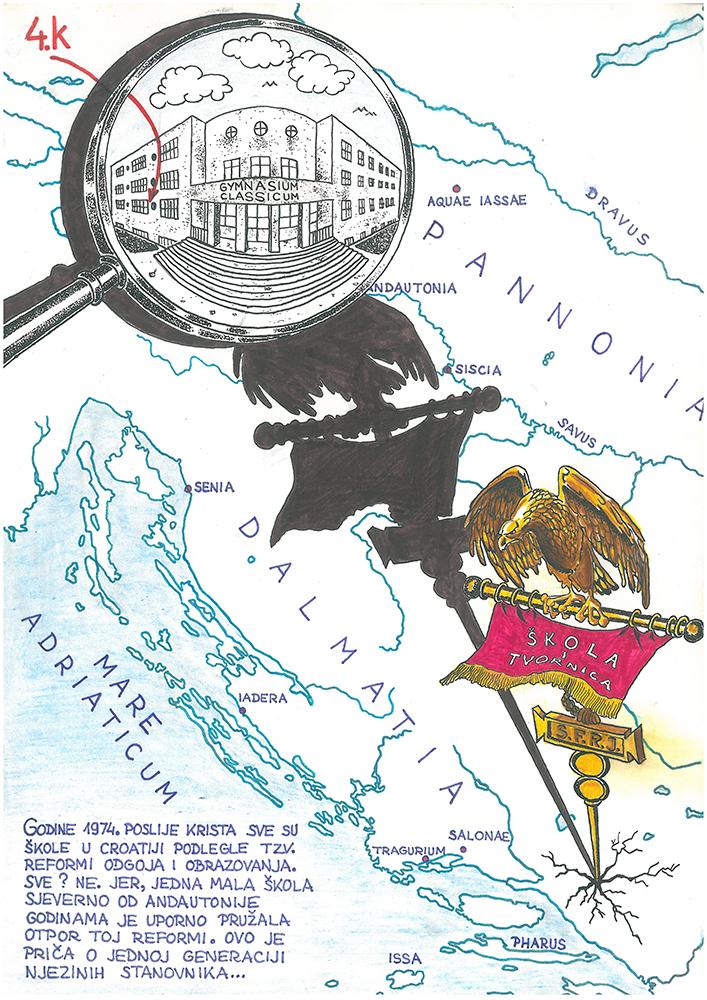 Cover of the Zagreb gymnasium classroom samizdat.