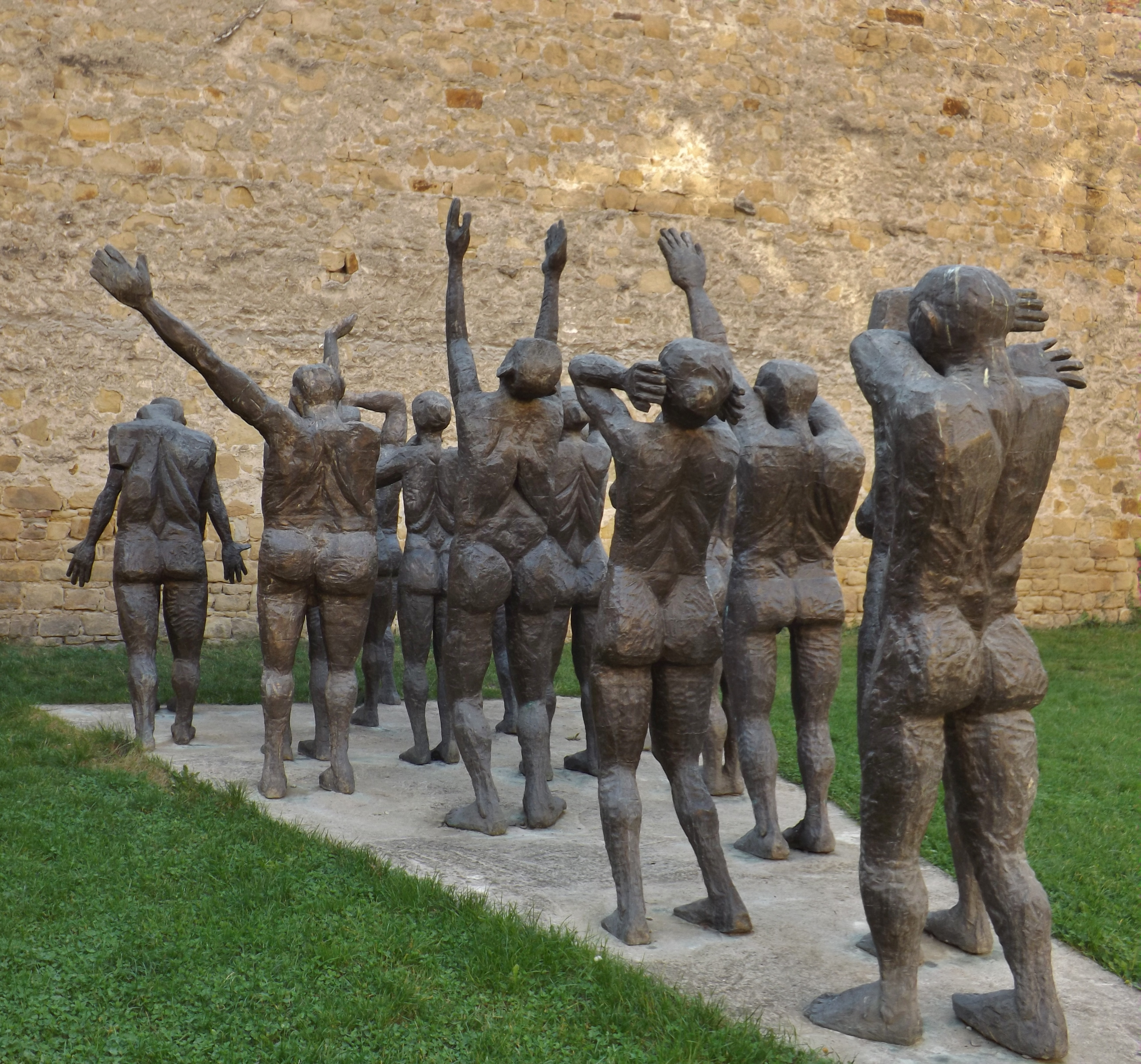 The Cortege of the Sacrificial Victims, statuary group by Aurel I. Vlad, Sighet