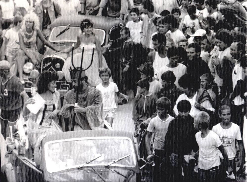 The Arrival in style of Neptune at the Festivals of the Sea, Costinești, 1980s
