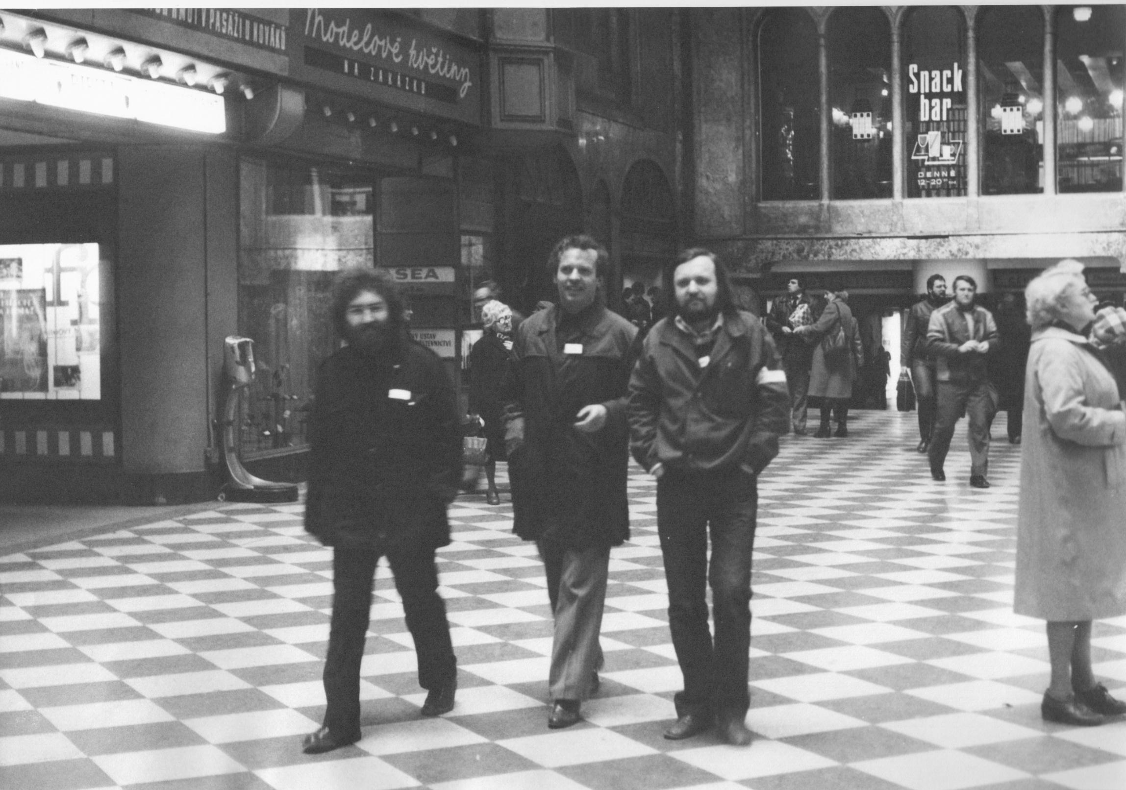 Joska Skalník, Karel Srp, and Vladimír Kouřil (from left to right) in 1982