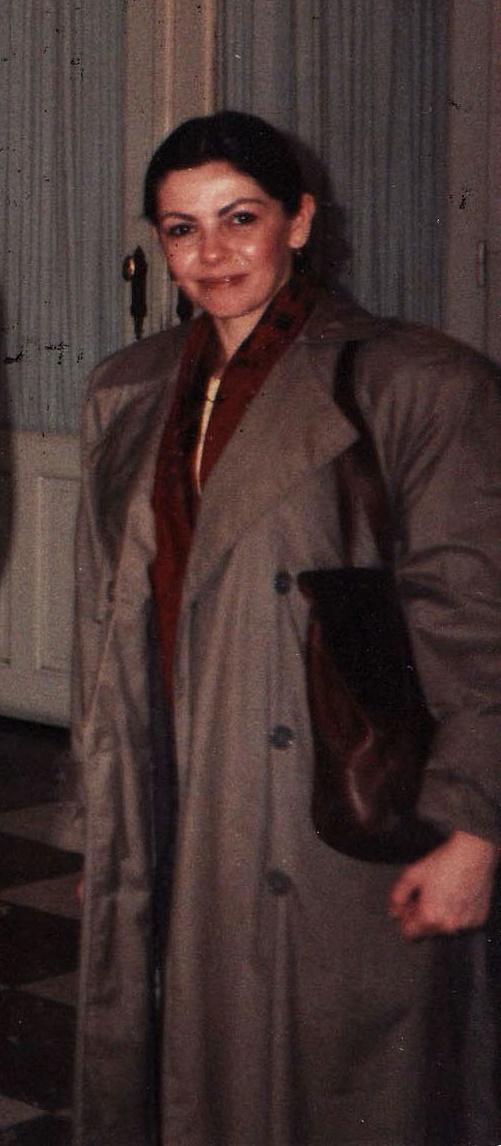Ariadna Combes în Bruxelles în 1990