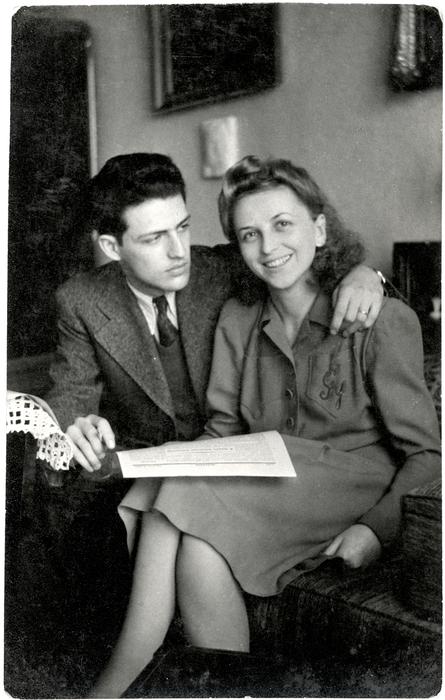 Györgyi Markovits with Her First Husband, 1943