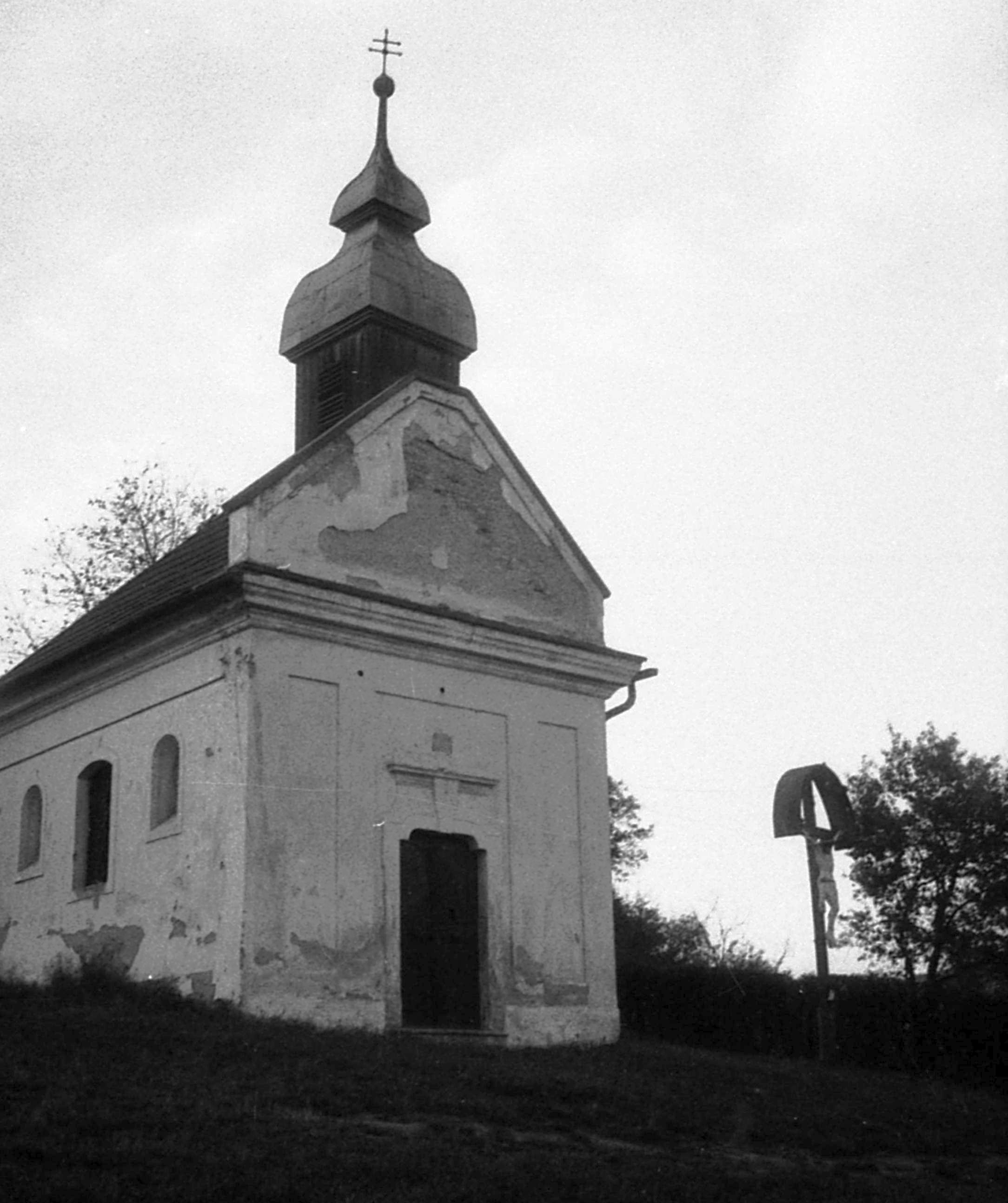 The chapel of the Calvary of Nagymaros, 1975.