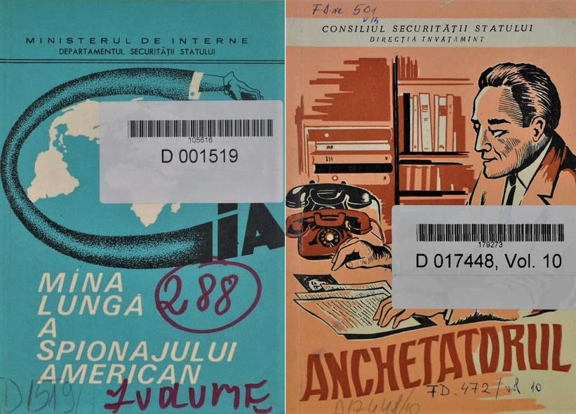 Covers of the Securitate teaching materials